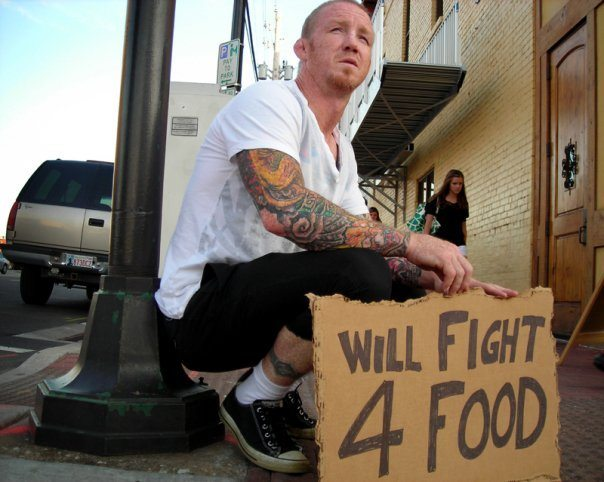 Mikey Burnett will fight for food in the streets or in the cage
