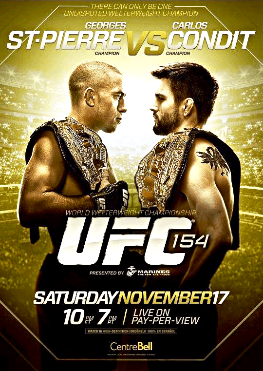 UFC 154: St. Pierre Vs. Condit - Weigh-in Results