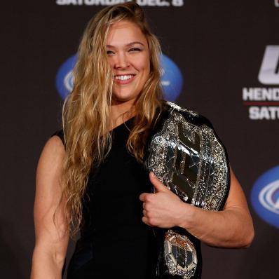 Ronda Rousey with UFC title