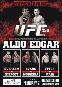 Featherweight champion Jose Aldo squares off with former lightweight champion Frankie Edgar at UFC 156 this weekend.